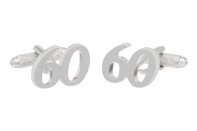 60th Birthday Cufflinks